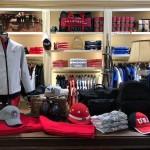 Assortiment de prêt à porter chez La Martina, boutique Lyonnaise spécialisée dans la polo Argentin